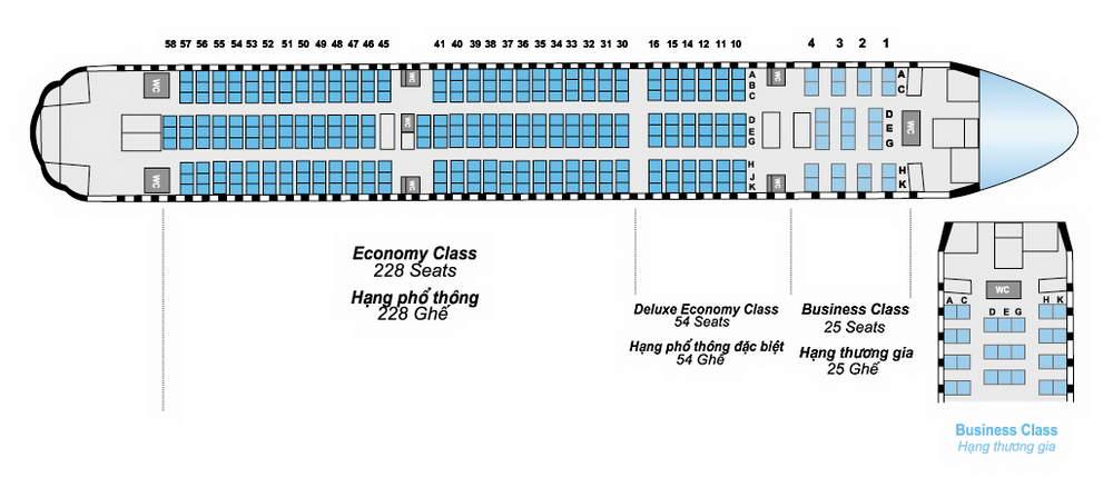 classe conomique 228 vietnam airlines